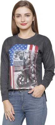 Maggivox Full Sleeve Self Design Women Sweatshirt