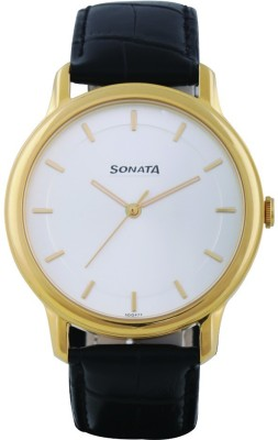Sonata 7128YL02 Sleek Analog Watch For Men