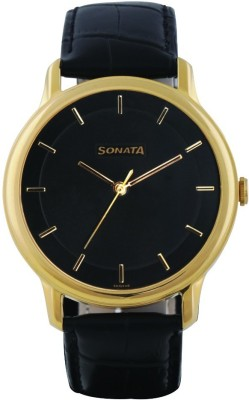 Sonata 7128YL01 Sleek Analog Watch For Men