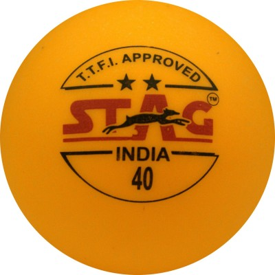 Stag Two Star Plastic Table Table Tennis Ball(Pack of 12, Orange)