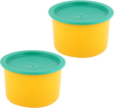 Tupperware One touch topper pack of 2 each 650 ML Plastic Bowl Set(Yellow, Green, Pack of 2)  available at flipkart for Rs.599