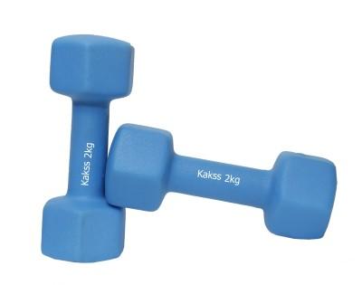 KAKSS 1 pair 2kg Neoprene Coated Dumbbells for gym excercise Fixed Weight Dumbbell(4 kg)  available at flipkart for Rs.889