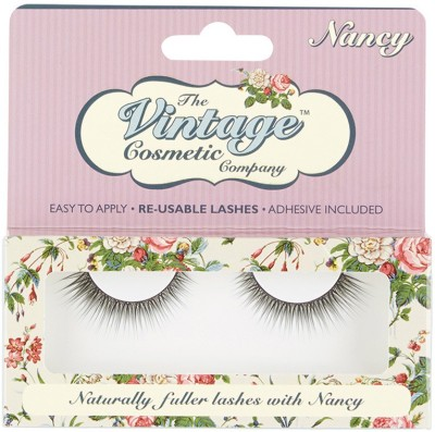Vintage Cosmetic Natural Lashes - Nancy(Pack of 1)