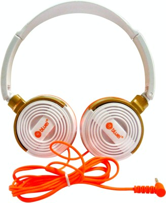 JVC HA-FR36-D Wired Headset with Mic(Orange, In the Ear)