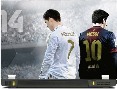 best service 6557d aada9 SkinShack Cristiano Ronaldo and Lionel Messi (14.1 inch) Vinyl Laptop Decal  14.1