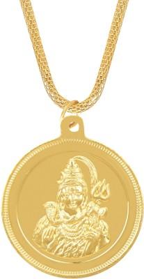 Shining Jewel 24K Shiva Shankar Coin Yellow Gold Brass Pendant  available at flipkart for Rs.244