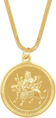 Shining Jewel 24K Durga Devi Coin Yellow Gold Brass Pendant  available at flipkart for Rs.244