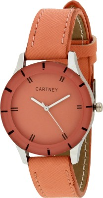 Cartney Orange Dial & Leather Strap CTY-ORG-01 Watch  - For Girls   Watches  (cartney)