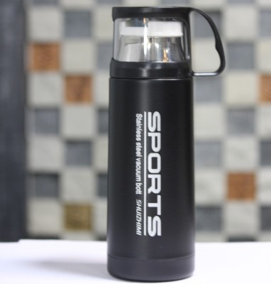 Carrera KUPPA-SPORTZ Bringing cutting-edge active sports bottles that are ideal not just for athletes but for anyone trying to reach their fitness goals. ADDITINALLY A LID WHICH IS A CUP! 350 ml Flask(Pack of 1, Black)  available at flipkart for Rs.509