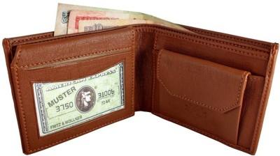Billiondeal Royal Design bi-Fold High Quality Men's Leather Wallet & 8 Card Holder(Set of 1, Tan)