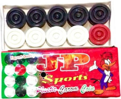 SST JP Plastic carom coin Carrom Pawns(Pack of 20)  available at flipkart for Rs.199