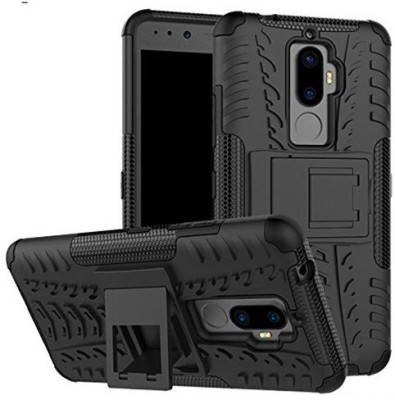Unistuff Back Cover for Lenovo K8 Plus(Black, Rubber)
