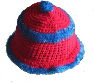 46d9ae4c731 58% OFF on Faynci Self Design Faynci Maharaja Red White Beanie Hat ...