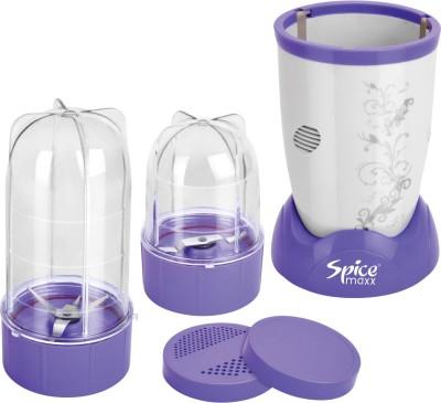 Spice Maxx Power Bullet 400 W Juicer Mixer Grinder Violet, 2 Jars Spice Maxx Mixer Juicer Grinder