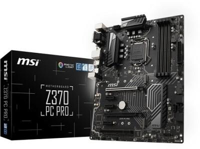 MSI Pro Series Lake LGA 1151 VR Ready 64GB DDR4 CFX ATX (Z370 PC PRO) Motherboard
