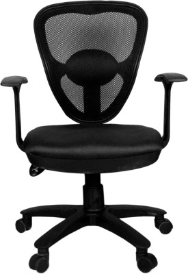 Rajpura Saphire1 Medium Back Revolving Chair with Push back Mechanism in black...