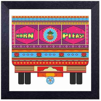 Horn please Photographic Paper(14 inch X 14 inch, Framed)