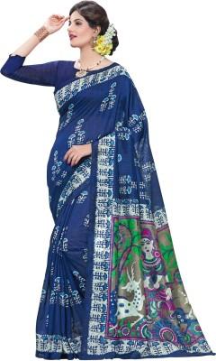 Gugaliya Paisley, Checkered Bollywood Art Silk Saree(Multicolor)