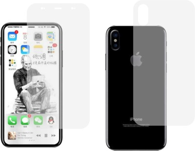 Case Creation Front and Back Screen Guard for Apple iPhone X(Pack of 1)