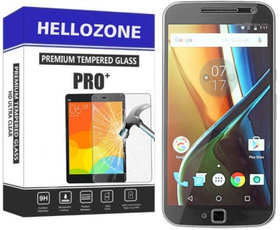 Hello Zone Tempered Glass Guard for Motorola Moto G (4th Generation) Plus(Pack of 1)