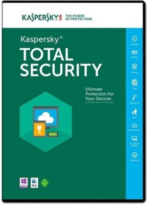 KASPERSKY Kaspersky Total Security - 1 PC, 3 Year (CD) Latest Version [DVD-ROM]