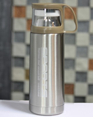 Carrera KUPPA-SPORTZ Bringing cutting-edge active sports bottles that are ideal not just for athletes but for anyone trying to reach their fitness goals. ADDITINALLY A LID WHICH IS A CUP! 350 ml Flask(Pack of 1, Steel/Chrome)  available at flipkart for Rs.509