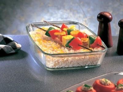 BOROSIL Rectangular Dish 1.5 L Glass Bowl Borosilicate Glass Serving Bowl Clear, Pack of 1 BOROSIL Bowls