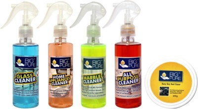 BIG Pure Glass Cleaner 200 ml, Home Appliances Cleaner 200 ml, Marble Cleaner 200 ml, All Purpose Cleaner 200 ml and Heavy Duty Hand Cleaner 200 g(800 ml)