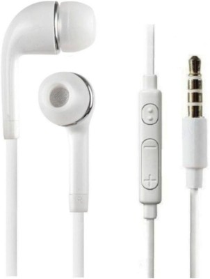 TopamTop Earpod With Remote and Mic for All Devices Wired Headset with Mic(White, In the Ear)