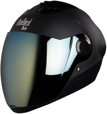 Steelbird AIR SBA-2-Matt Motorbike Helmet(Black)