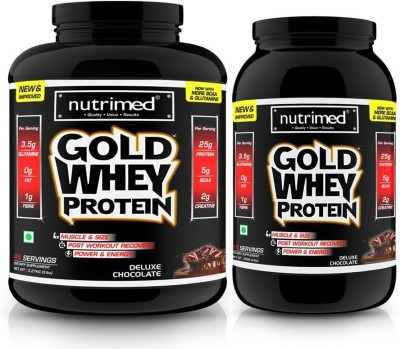 Nutrimed Gold Whey Combo Pack (5 lbs + 2 lbs) Whey Protein(908 g, 2.27 kg, Deluxe Chocolate)