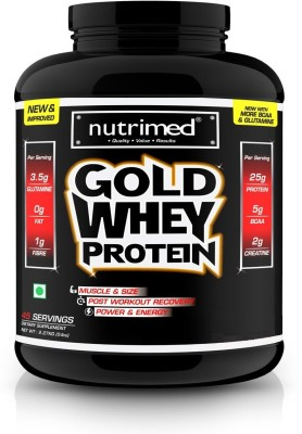 Nutrimed Gold Whey 5Lbs Whey Protein(2.26 kg, Vanilla)