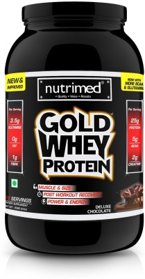 Nutrimed Gold Whey 2Lbs Whey Protein(908 g, Chocolate)