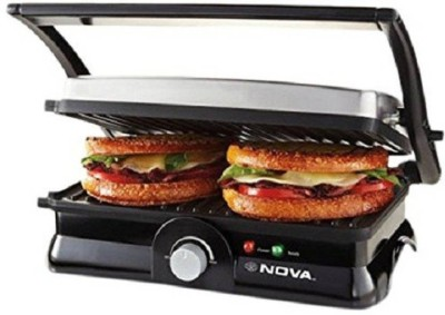 Nova Temperature 4 slice panni 2451/00 Grill(Gery, Black)