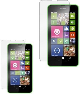 Ipackk Tempered Glass Guard for Nokia Lumia 630(Pack of 2)