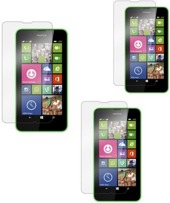 Ipackk Tempered Glass Guard for Nokia Lumia 630(Pack of 4)