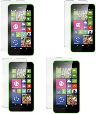 Chappie Moustache Tempered Glass Guard for Nokia Lumia 630(Pack of 4)