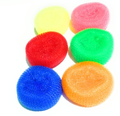 dannu nylone scrub pads use as all cleaning vessels use as cleaning purposes all multicolor, color as per stock ( set of 6) good nylon used inside ,use all purpose cleaning Scrub Pad(Regular, Pack of  at flipkart