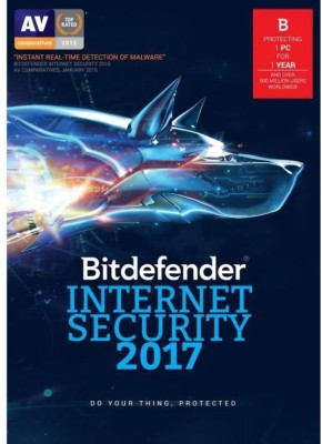 Bitdefender -Internet Security - 1PC, 1Year ,pack(1cd - 1 key) Latest Version