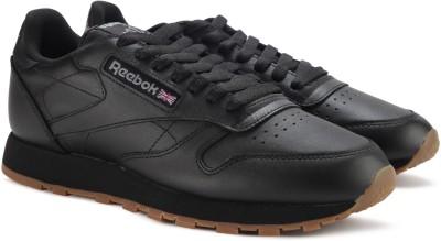 REEBOK CL LTHR Sneakers For Men(Black) at flipkart