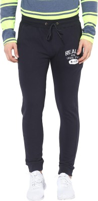 Realm Self Design Men Dark Blue Track Pants at flipkart
