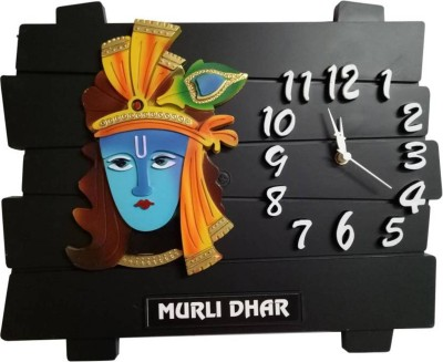 Apro Analog Wall Clock(WOODEN, Without Glass)  available at flipkart for Rs.290
