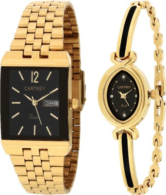 Cartney Golden Pair Watch  - For Men & Women   Watches  (cartney)