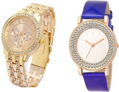 COSMIC Rhinestone Studded Analog gold Dial artificial chronograph with DIAMOND STUDDED AND GLAMOROUS DIVA ladies party wear Watch  - For Women