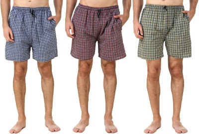 Zoldy Checkered Men's Boxer(Pack of 3)