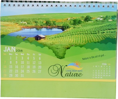 Indigo Creatives Sunny107 2018 Table Calendar(Multicolor, Nature Beautiful Landscape)  available at flipkart for Rs.197