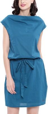 she Women Shift Blue Dress