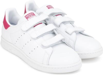 ADIDAS ORIGINALS Boys & Girls Velcro Sneakers(White)