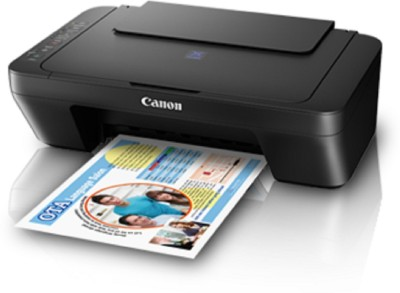 Canon Pixma E470 Multi-function Wireless Printer(Black, Ink Cartridge)