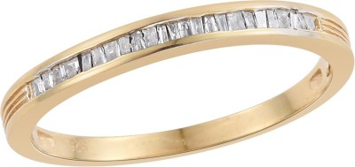 Vaibhav Band Ring In 0.23 Ct Diamond For Girls in 925 Sterling Silver With 18K Gold Plating Sterling Silver Diamond 18K Yellow Gold Plated Ring